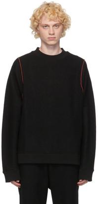 Jil Sander Black Wool Beaded Sweater
