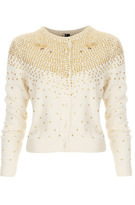 Topshop Knitted Sequin Spray Cardi