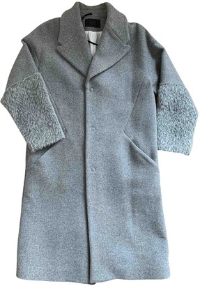 Ikks Grey Wool Coat for Women