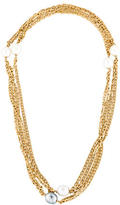 Chanel Double Strand Pearl Necklace