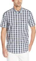 Nautica Men's Short Sleeve Wrinkle Resistant Poplin Plaid Shirt