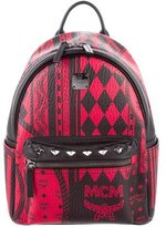 MCM Small Stark Baroque Print Munich Backpack