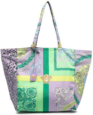 Versace Print-Mix Tote Bag