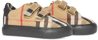 BURBERRY KIDS Vintage Check low-top sneakers