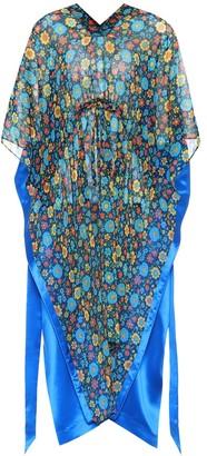 Balenciaga Floral-printed silk satin kaftan