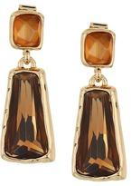 Robert Lee Morris Topaz & Gold Stone Double Drop Earrings