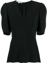 Stella McCartney V-neck puff-sleeve blouse