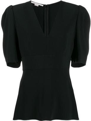 Stella McCartney V-neck puff-sleeve blouse