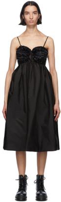 MONCLER GENIUS 4 Moncler Simone Rocha Black Ruffle Bust Dress