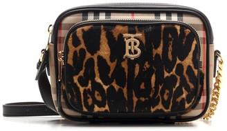 Burberry Vintage Check Leopard Print Camera Bag