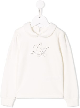 Lapin House Crystal Embellished Top