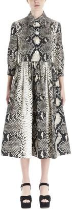 Prada Printed Flared Dress