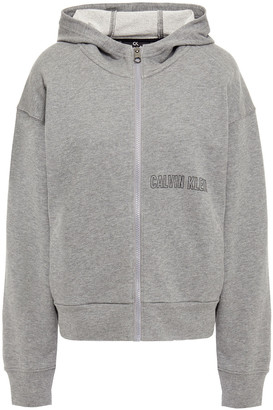 Calvin Klein Printed French Cotton-terry Hoodie