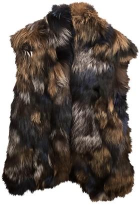 Vince Multicolour Fox Coat for Women