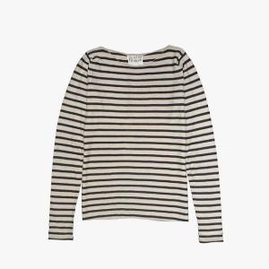The Collaborative Store - Classic Boat Neck Sweater - S - Black/Natural