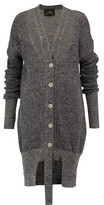 Vivienne Westwood Cutout Wool And Cotton-Blend Cardigan