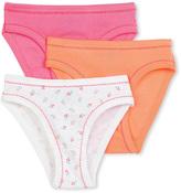 Petit Bateau Set of 3 girls plain/printed panties