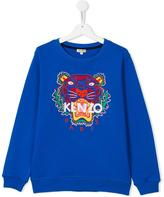 Kenzo Tiger sweatshirt - kids - Cotton - 14 yrs