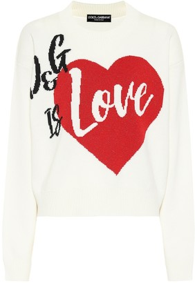 Dolce & Gabbana Intarsia cashmere-blend sweater