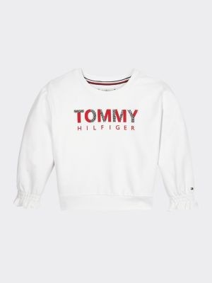 Tommy Hilfiger Ruffle Cuffs Crew Neck Sweatshirt
