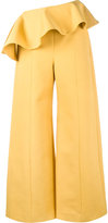 Rosie Assoulin ruffle wide-leg trousers - women - Cotton/Spandex/Elastane - 6