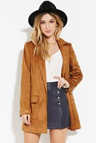 Forever 21 FOREVER 21+ Belted Faux Suede Coat
