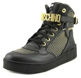 Moschino Studded High Top Leather Fashion Sneakers.