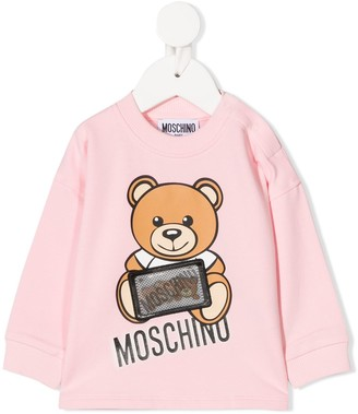 MOSCHINO BAMBINO Hologram Logo Patch Sweatshirt