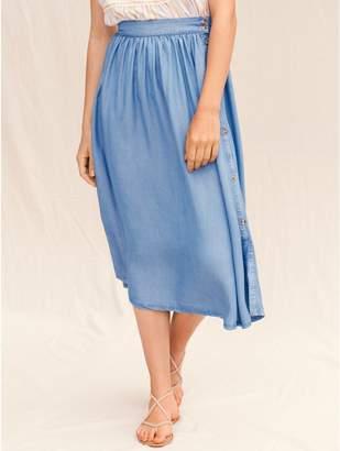 M&Co Vero Moda button denim midi skirt
