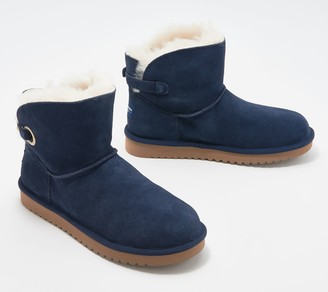 Koolaburra By Ugg by UGG Suede Buckle Mini Boots - Remley