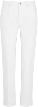 Dries Van Noten Perry White Straight-leg Jeans