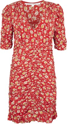 Veronica Beard Josephine printed stretch-silk dress