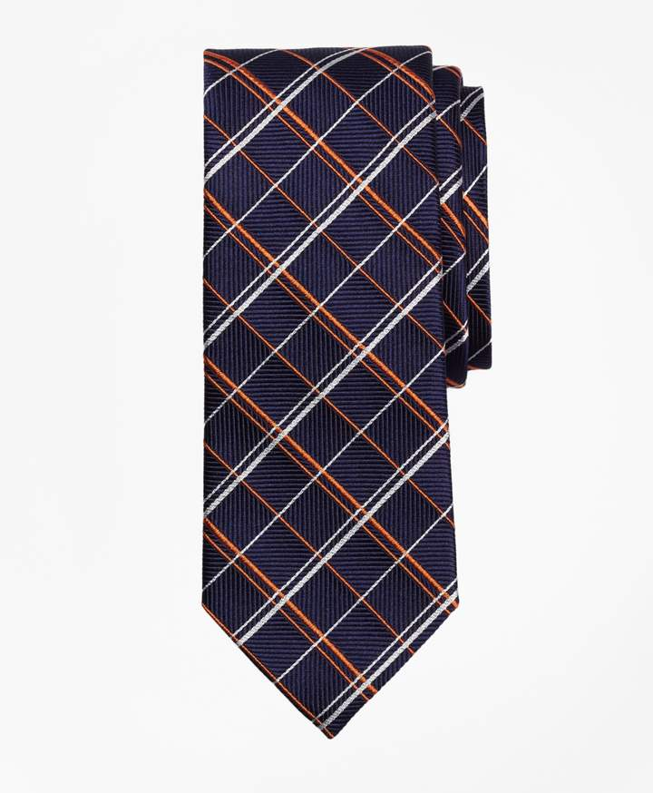 Brooks Brothers Double Alternating Windowpane Tie