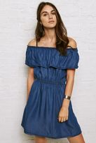American Eagle Outfitters Don't Ask Why Chambray Off-the-Shoulder Dress