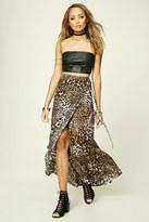 Forever 21 FOREVER 21+ Reverse Leopard Maxi Skirt