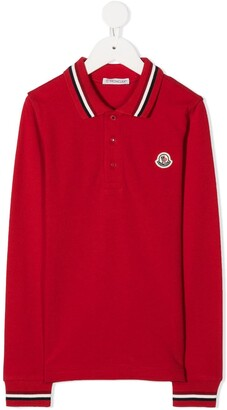 Moncler Enfant Longsleeved Polo Shirt