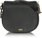 Karl Lagerfeld K/Grainy Black Leather Satchel