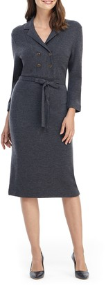 Gal Meets Glam Monica Long Sleeve Midi Sweater Dress