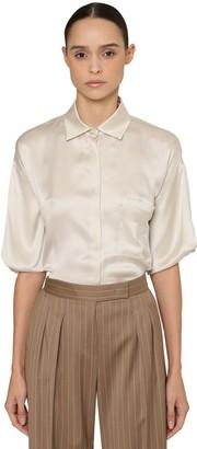 Max Mara M Logo Silk Satin Shirt