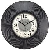 Infinity Instruments Old Town Standard Decorative Clock - Black