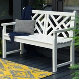 Polywoodâ® Chippendale Plastic Bench POLYWOODA Color: White