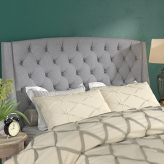 Three Posts Chandeleur Upholstered Wingback Headboard Size: King