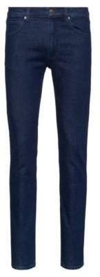Skinny-fit jeans in dark-blue stretch denim