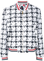Thom Browne floral embroidered bomber jacket - women - Cotton/Silk - 42