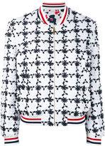 Thom Browne floral embroidered bomber jacket
