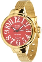 Glam Rock Miami Beach by Art Deco 36mm Gold Plated Watch - MBD27079 (Gold) - Jewelry