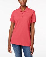 Karen Scott Short-Sleeve Polo Top, Only at Macy's