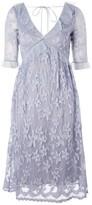 Topshop Flute Sleeve Lace Midi Dress
