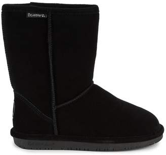 BearPaw Emma Wide-Width Shearling-Lined Suede Short Boots