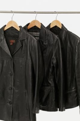 Urban Renewal Vintage Leather Blazer - Black M at Urban Outfitters